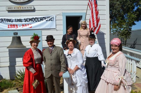 Residents party like it's 1883 for historic schoolhouse's 130th birthday