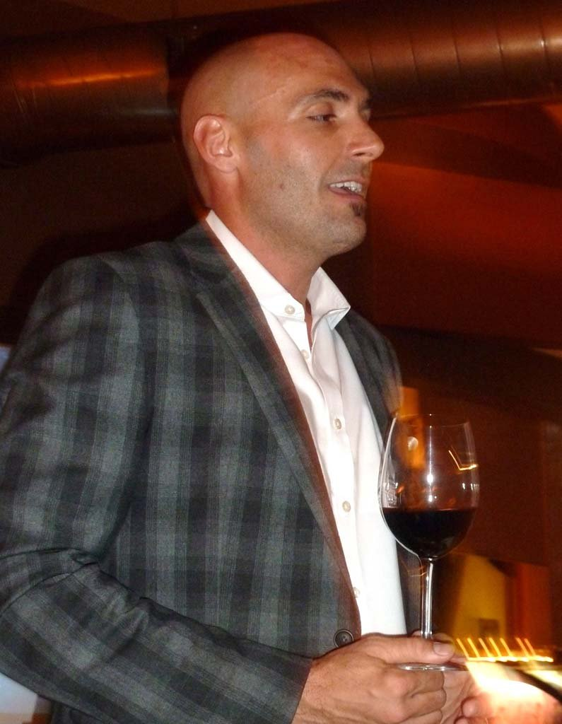 Galen Crippin, the Export Manager for Marchesi de' Frescobaldi presented the history of the fabled Tuscan winery, at Solare in San Diego.