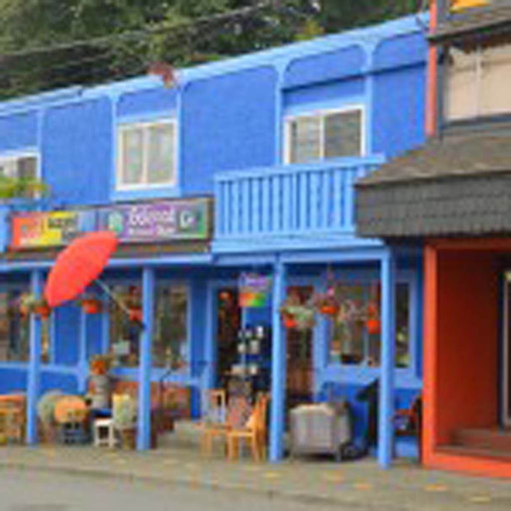 Colorful buildings line the streets in Old Chemainus. Many were constructed in the late 1800s when the largest sawmill in Canada was operating at full steam. The closing of the mill in the early 1980s could've created a ghost town until civic leaders decided to follow Karl Schutz' idea and create an outdoor mural gallery that he promised would draw tourists.
