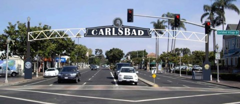 A Welcoming Display: Carlsbad sign may arc over Village main street next year