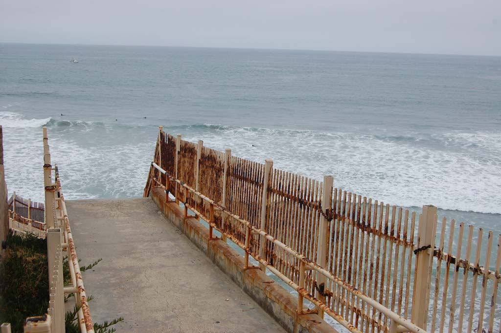 The beach access stairway at Del Mar Shores, which has been closed for more than a year, could be reopened by August. City Council awarded the construction contract at the Nov. 20 meeting. Photo by Bianca Kaplanek