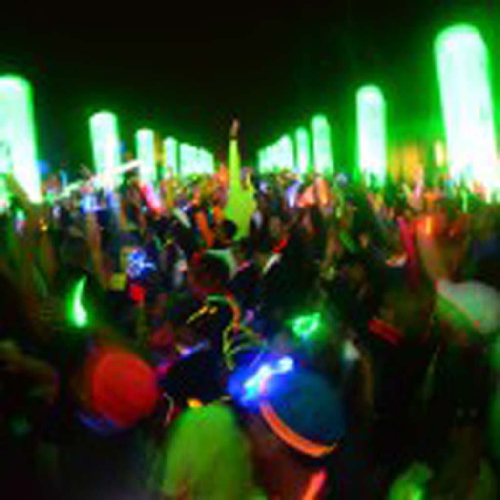 Racers at the starting line make some noise for the start of the Electric Run.