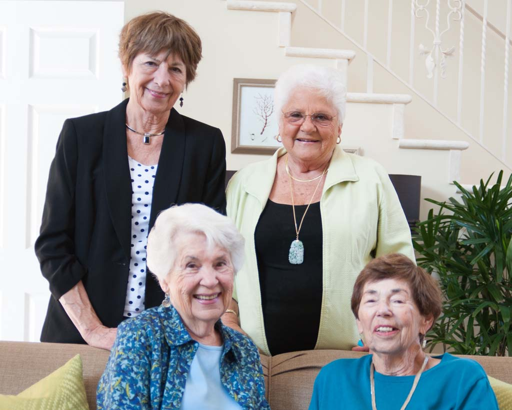 """Hospice of the North Coast salutes its """"Friends and Founders"""" Nov. 17, including from left, back row, Anne Speraw and Mary Jane Boyd with, from left, front row, Connie McIntire and Ruth Joy Orner. Photo by Heather Marsh, HHM Creative"""