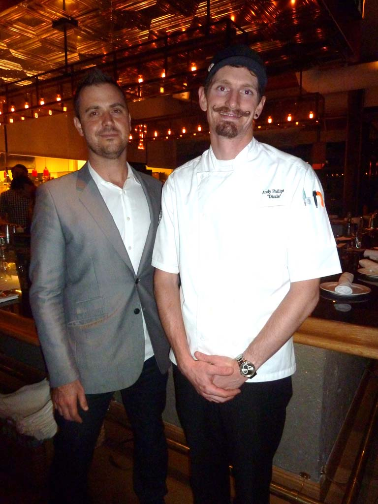 Searsucker General Manager Nick Baker and Chef Andy Philips.