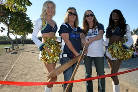Christa McAullife Elementary celebrates new running track