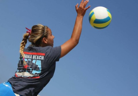 Love of game propels volleyball player