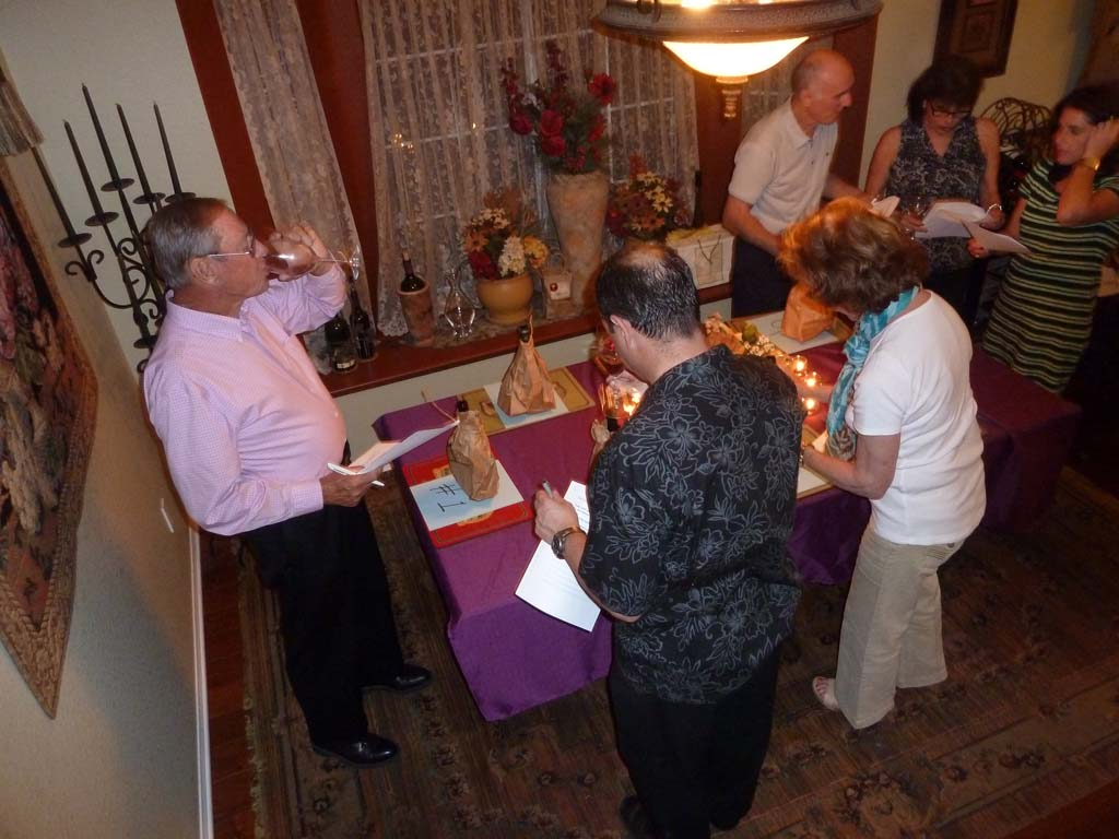 Blind Wine Tastings are fun and informative and make great holiday Parties. Photos by Frank Mangio