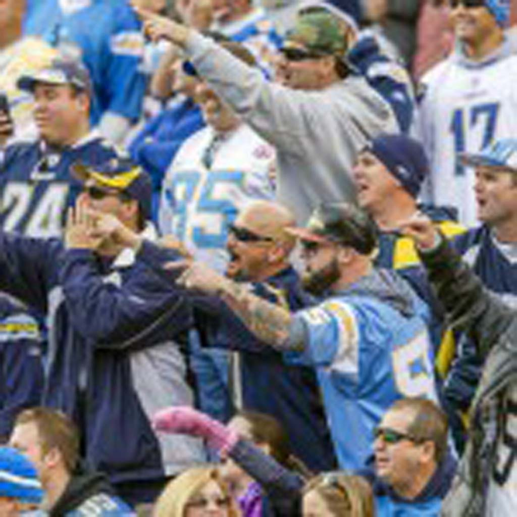 San Diego fans did not hesitate to show their distaste for the visiting New York Giants during Sunday's game.