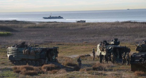 Marines test the waters, land for Steel Knight exercise