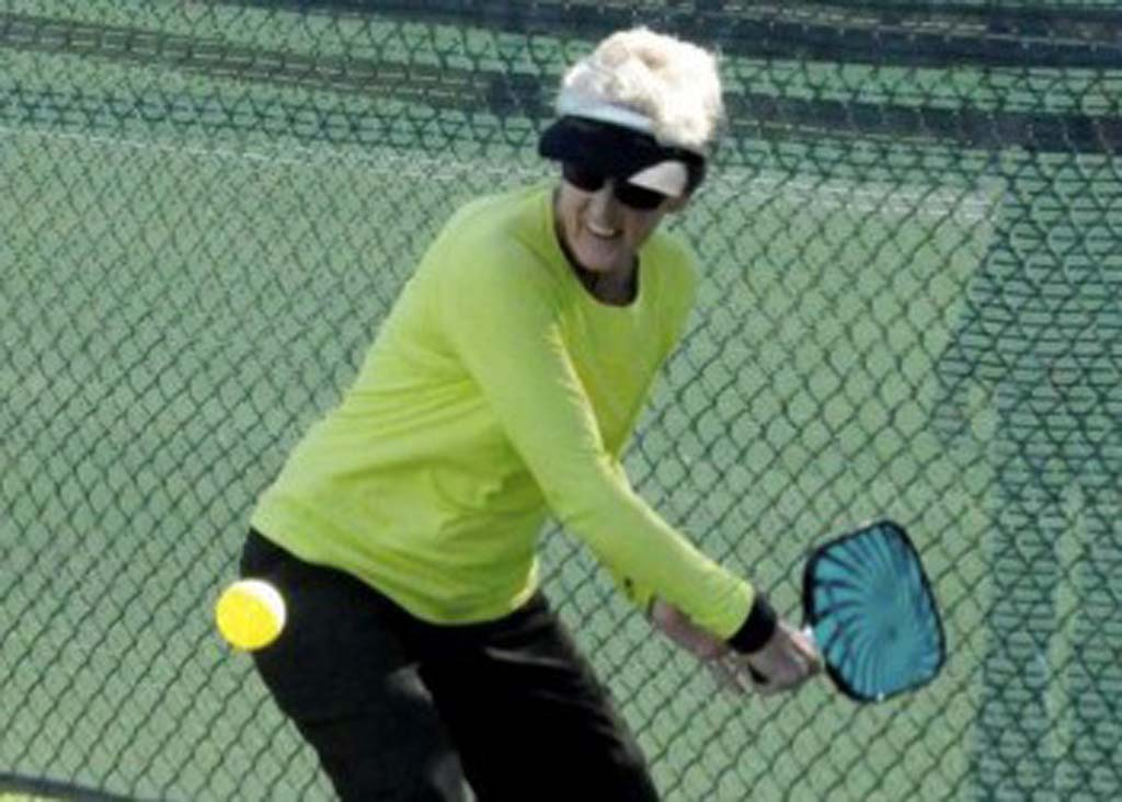 Pat Carroll frequented city meetings regarding the parks and recreation needs assessment to advocate for more pickleball courts in Carlsbad. Photo courtesy of Pat Carroll
