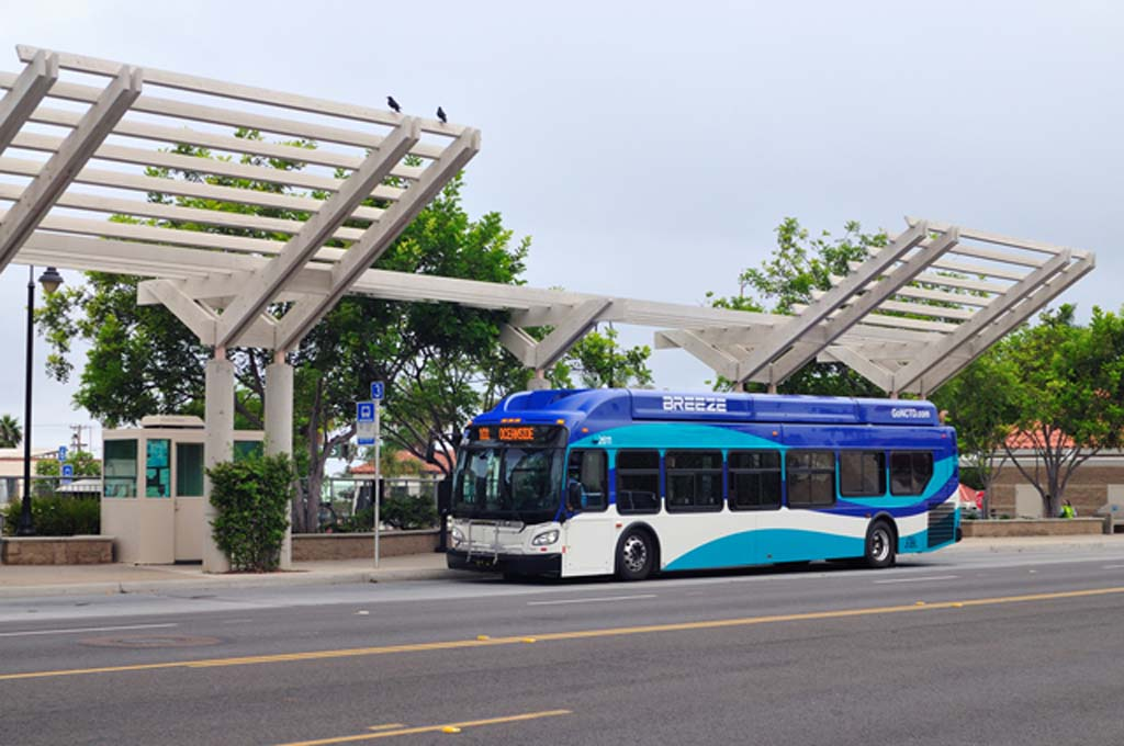 A recent North County Transit District (NCTD) Board Of Directors vote to expand bus service means more buses in Encinitas starting in February. Photo courtesy of NCTD