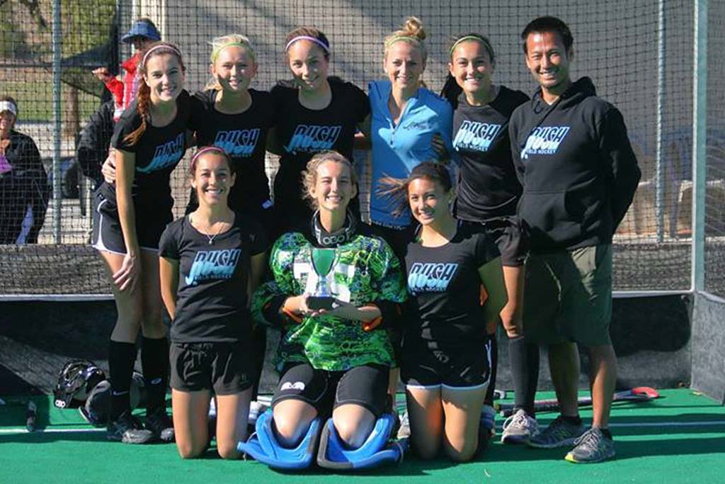 The San Diego team includes, from left, Madison Ashbrook of Fallbrook, Torie Berkel of San Pasqual, Madison Cohen of Torrey Pines, Gabrielle DePetro of Canyon Crest Academy, Mara Gutierrez of San Pasqual, Ashley Watson of Torrey Pines, Carli Wolf of San Pasqual and goalie Grace Troupe of Torrey Pines. Courtesy photos