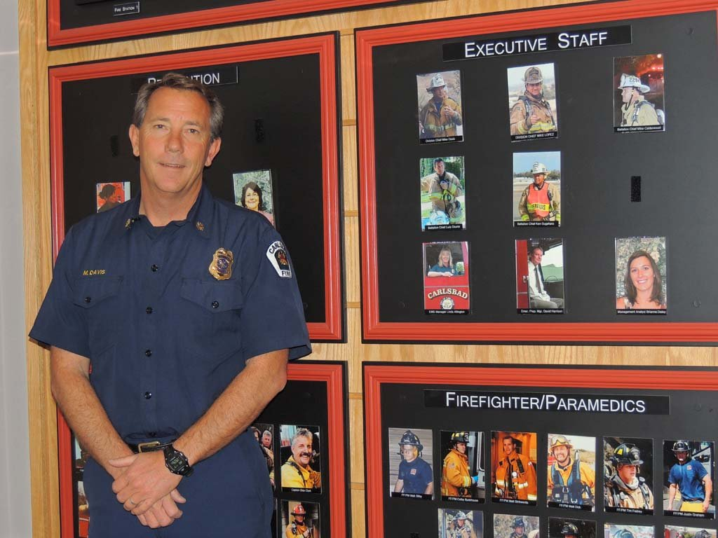 Decades-long career lands Mike Davis promotion to Carlsbad fire chief