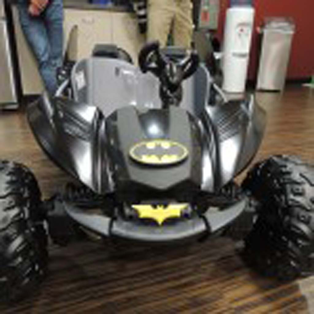 Whisett was given his own mini-Batmobile.