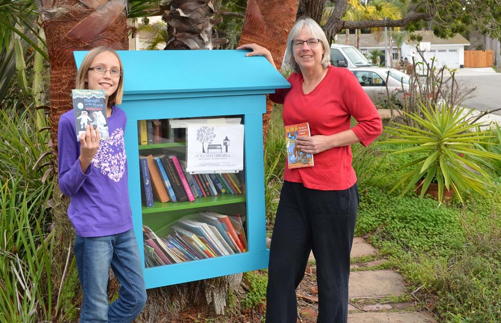 Mini-library encourages neighborhood camaraderie