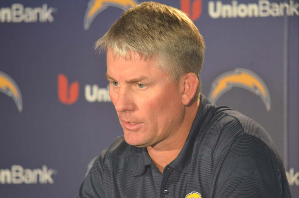 Believing in the team, coaches and organization has played a major role this season as the Chargers continue to push forward in the playoffs. In the next couple of days, head coach Mike McCoy will begin game planning for the Denver Broncos. Photo by Tony Cagala
