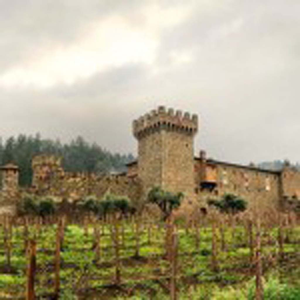 Castello di Amorosa in the Napa Valley makes the Italian style 2009 La Castellana, mostly Cabernet, with Merlot and Sangiovese. Photo by Liza Gershman