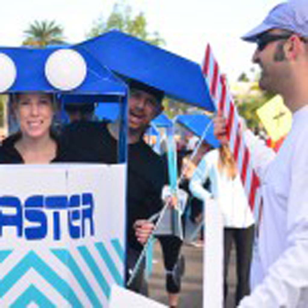 "One of the group winners of the Cardiff Kook 10k/5k run costume contest came dressed as the ""Kookster,"" a take on the well-known Coaster train that runs through the area. Photo by Tony Cagala"