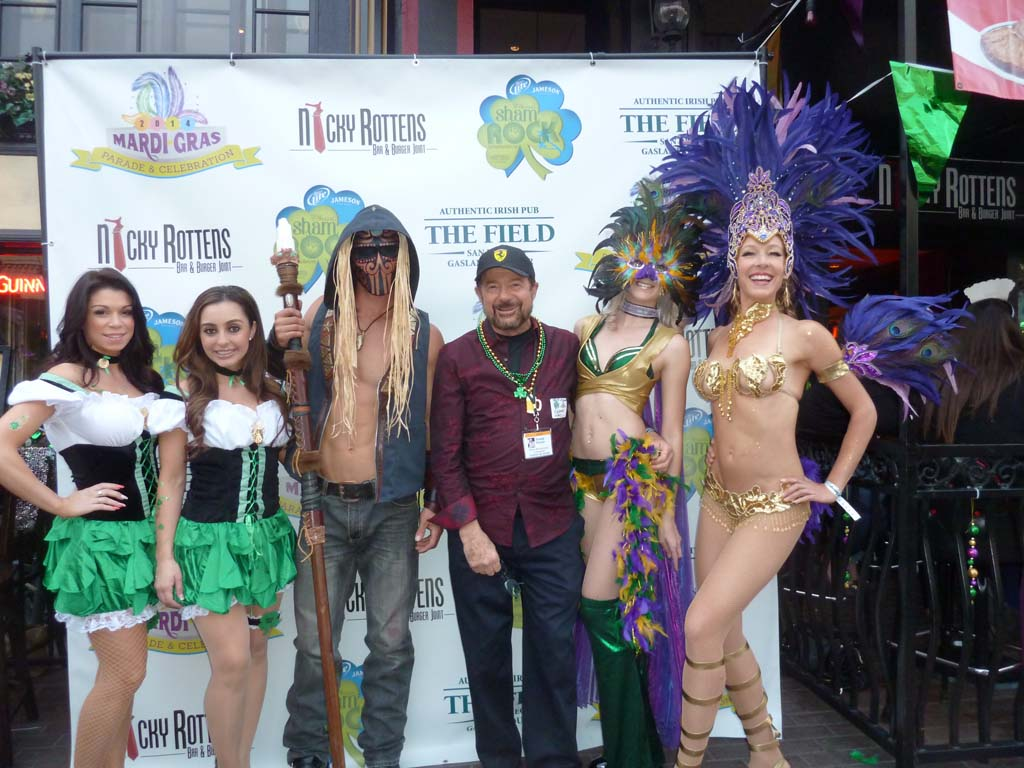 TASTE OF WINE columnist Frank Mangio is one of a few of the cast of characters planned for Mardi Gras and St. Patrick's Day celebrations in San Diego. Photo courtesy of Frank Mangio