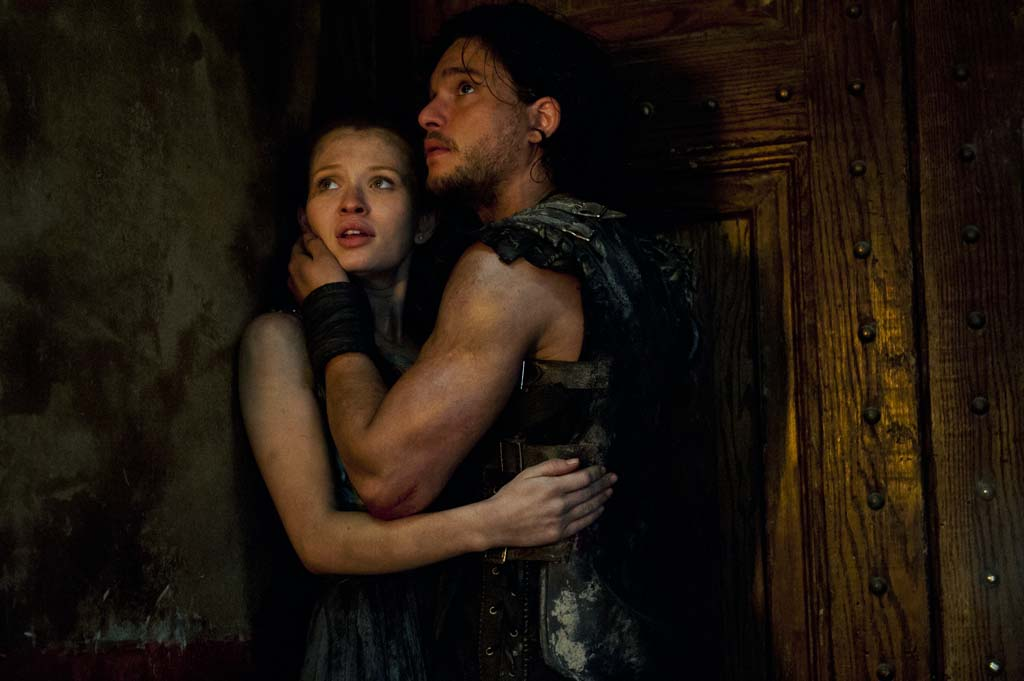 "Milo (Kit Harington) and Cassia (Emily Browning) star in ""Pompeii."" Photo by Caitlin Cronenberg"