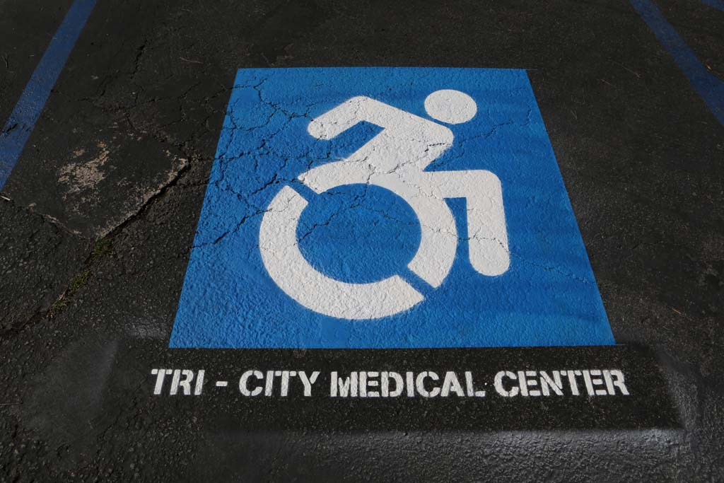 Tri City Medical Center is the first facility in California to adopt the new updated Accessible Icon Project handicapped symbol.