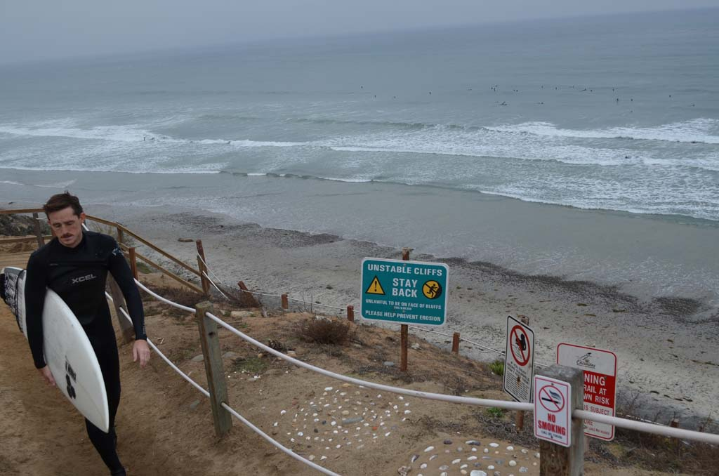 The city is looking to secure Beacon's Beach with a solution that the California Coastal Commission and environmentalists can live with. Photo by Jared Whitlock