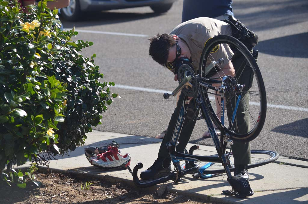 Another cyclist hit by motorist on 101