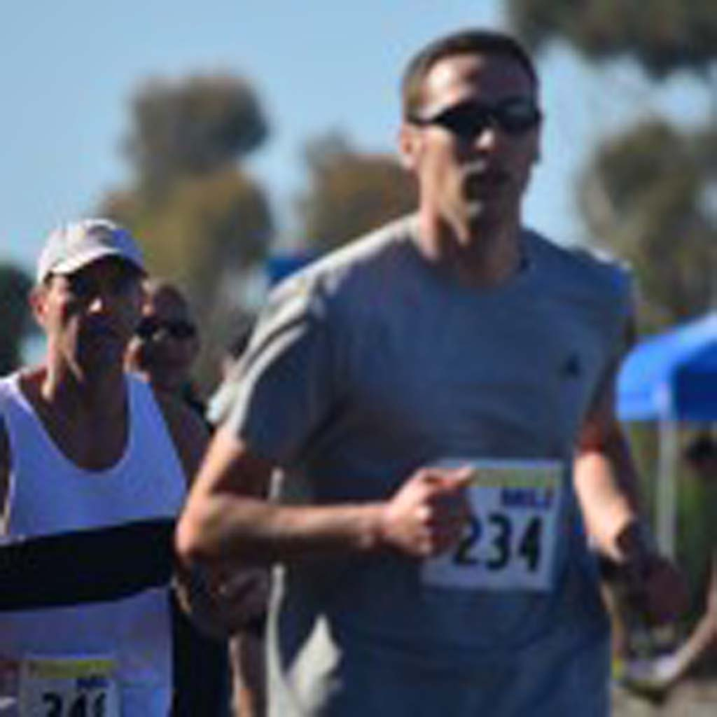 The Encinitas Mile featured several heats, including the men's open race. Photo by Tony Cagala