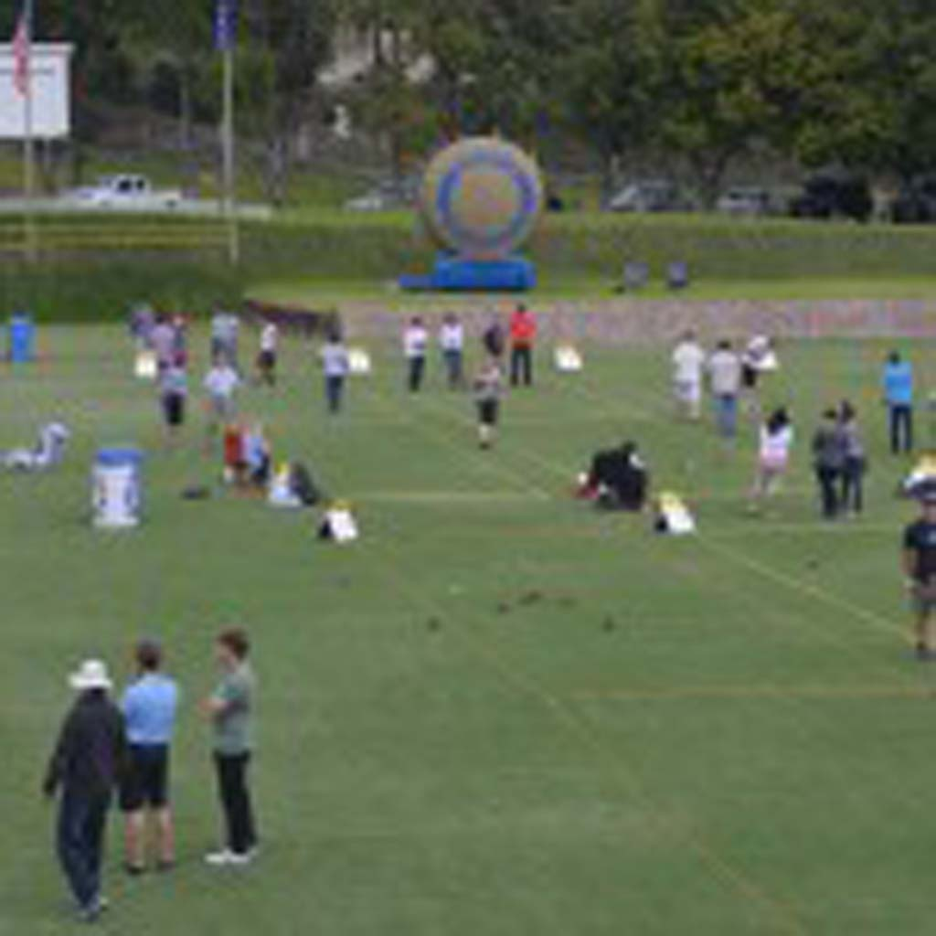 The 18th annual Solana Beach and Del Mar Rotary Club's Bocce Ball fundraiser saw a large turnout. Photo by Tony Cagala