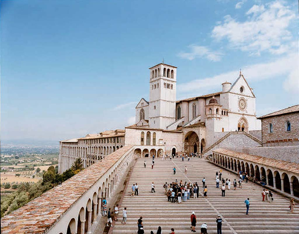 St. Francis of Assisi Church stands as the most iconic visitor location in Umbria Italy, named as one of the Top Ten Wine Destinations in the world. Photo courtesy of Concierge.com