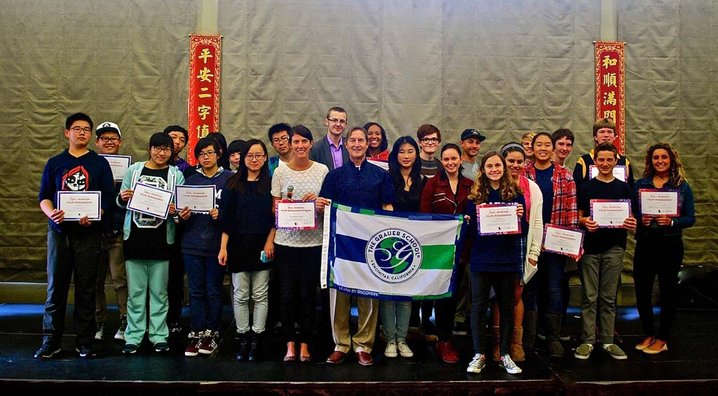 The Grauer School welcomed students and administrators from China's Ameson Foundation, celebrating with them the Asian New Year. Courtesy photo