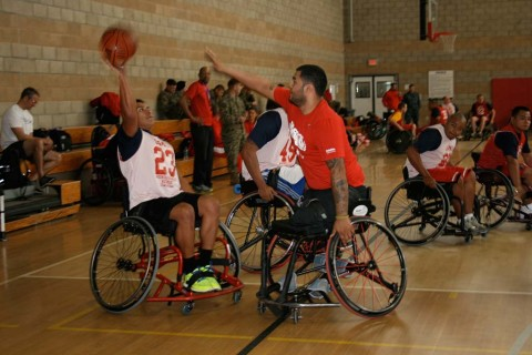Wounded warriors compete in Marine paralympic invitational