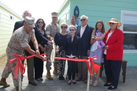 Marines dedicate 4 more ocean-view cottages