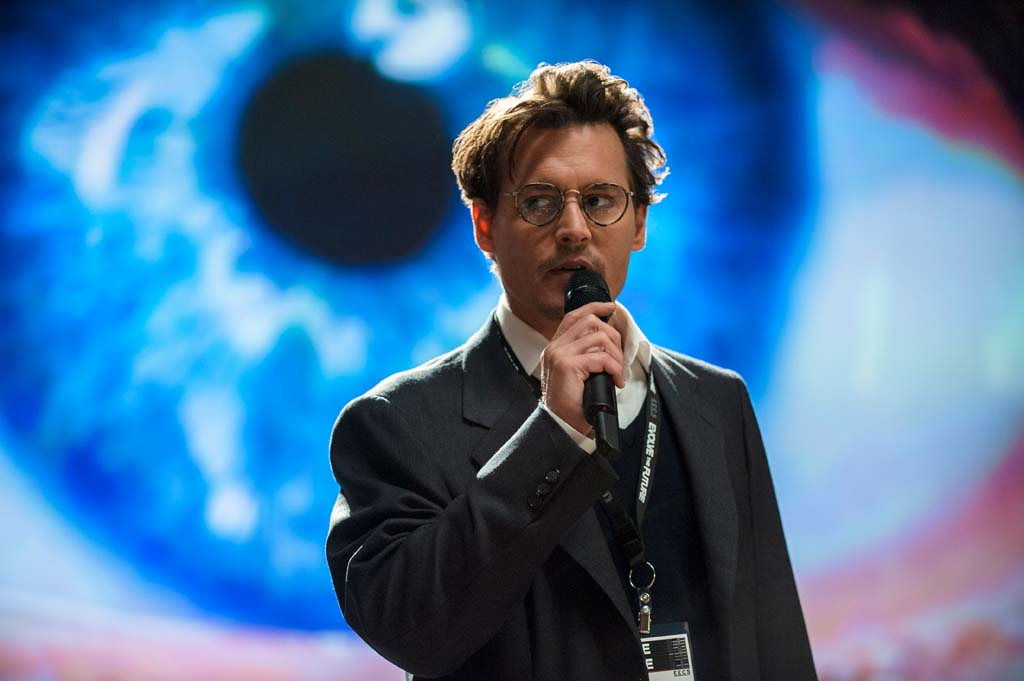 """Will Caster (Johnny Depp) is a researcher of Artificial Intelligence, who becomes a part of his own experiment in the film, """"Transcendence."""" Photo by Peter Mountain"""
