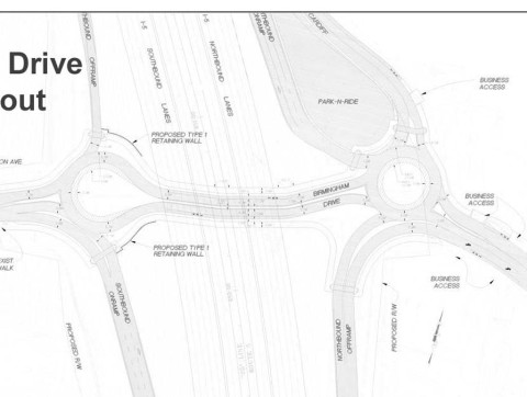 Roundabouts proposed as part of Birmingham Dr. revamp