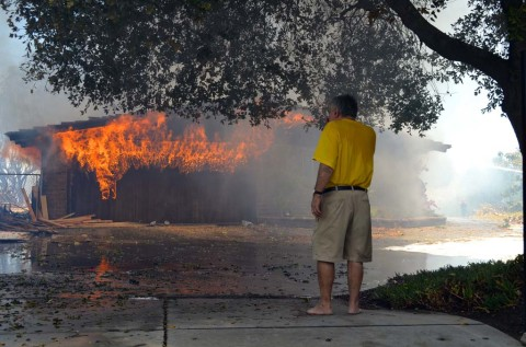 Updated: Fires burn North County