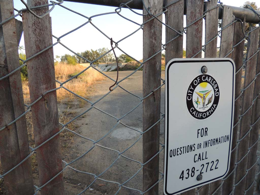 "In a part of the city known as ""Olde Carlsbad,"" residents are hoping that an abandonded 3-acre lot won't be sold by the city for more housing developments. Residents are petitioning the city to turn the land into a park. Photo by Rachel Stine"