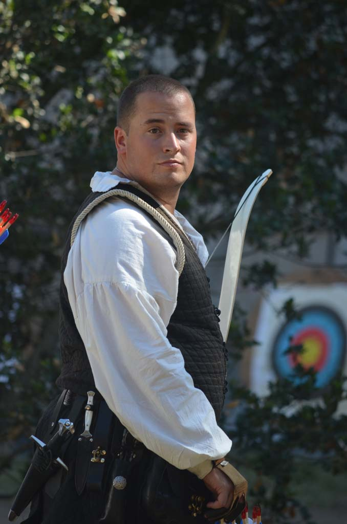 An archer prepares for the archery contest. Photo by Tony Cagala