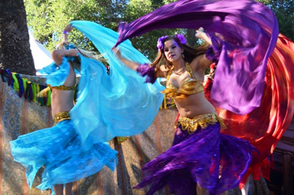 Members of the Blue Lotus Dance group perform at the Escondido Renaissance Faire on Saturday. Photo by Tony Cagala