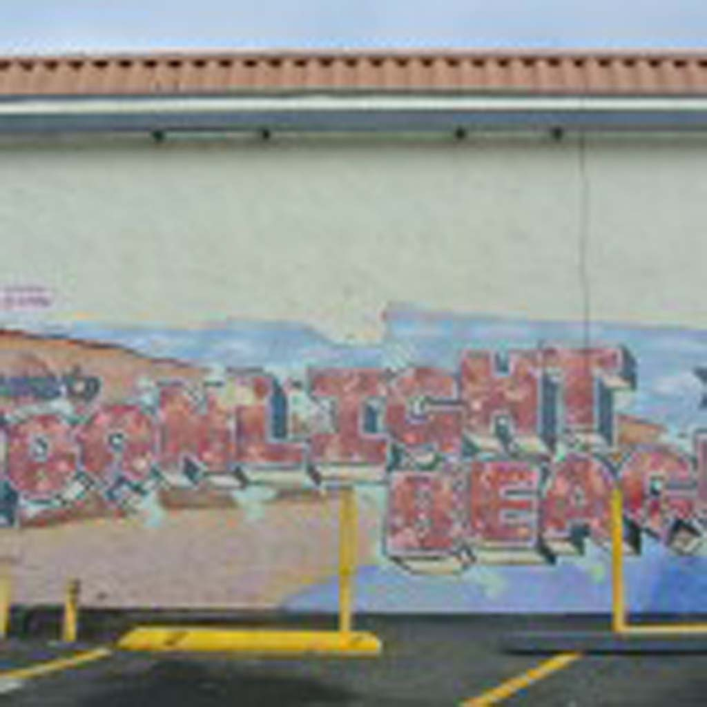 Mural located on the west wall of the Encinitas 7-11. Photo by Yeshe Salz
