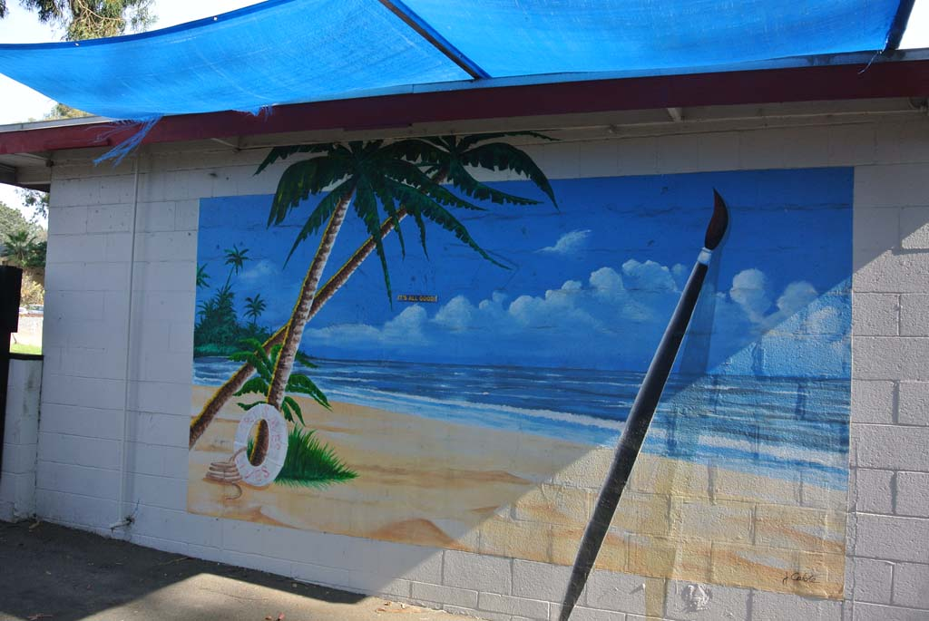Mural by Jerry Calote, located in Leucadia. Photo by Yeshe Salz