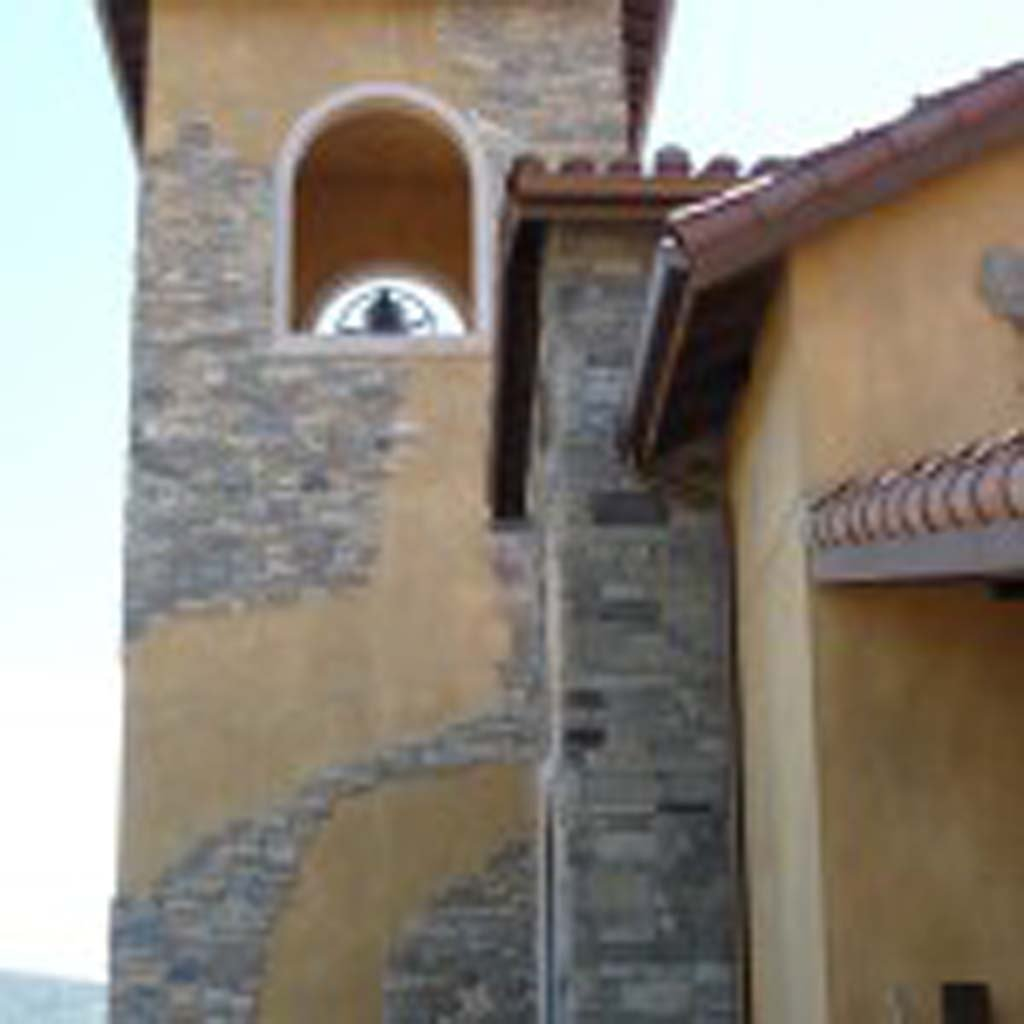 The bell tower is shown, part of the new tasting room and villa at Robert Renzoni Vineyards in Temecula.