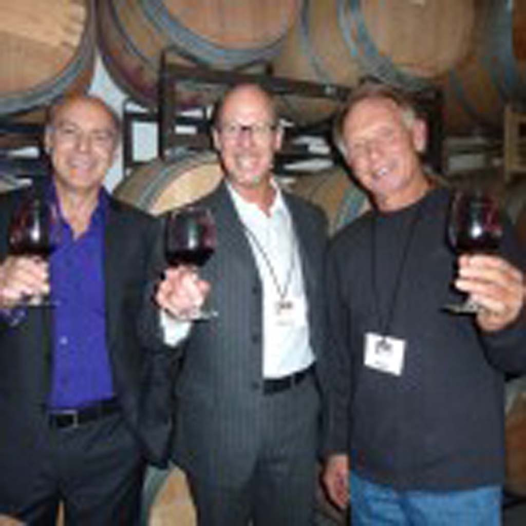 Show Director Donato Santarsieri, Italo Americano publication Sales Director Andrew Bagley and wine maker Lenny Ciarmoli toast the successful 3rd Annual International Wine Show.
