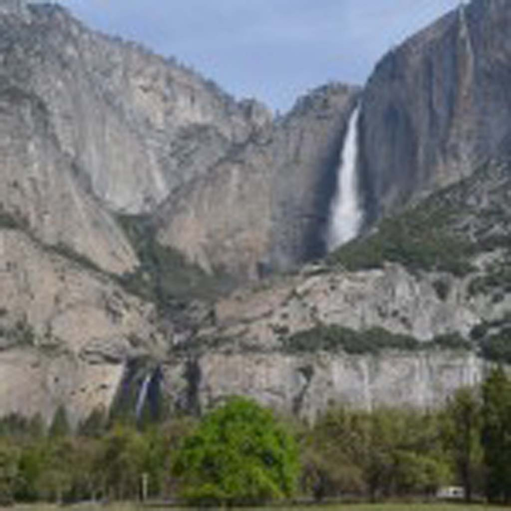 Fed by snow melt, spring and early summer is the best time to see waterfalls in Yosemite National Park, including Yosemite Falls. From the top of the upper falls to the bottom of the lower falls, it measures more than 2,400 feet, making it the highest waterfall in North America.  (Jerry Ondash)
