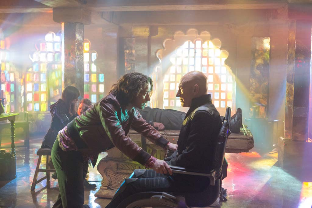 """Young Charles Xavier (James McAvoy) meets his older self (Patrick Stewart) in the future in """"X-Men: Days of Future Past."""" Photo by Alan Markfield"""