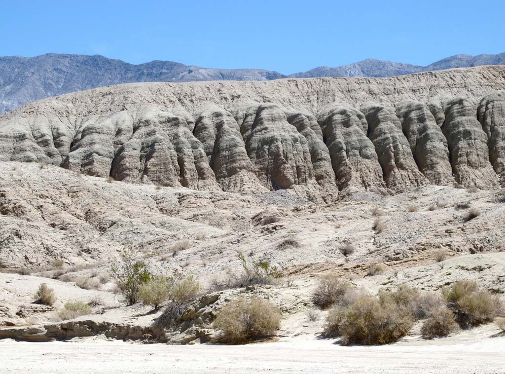 The 600,000 acres that make up Anza Borrego Desert State Park are rich with land forms like these columns created by erosion, a few miles outside of Borrego Springs. Photo by Laurie Brindle