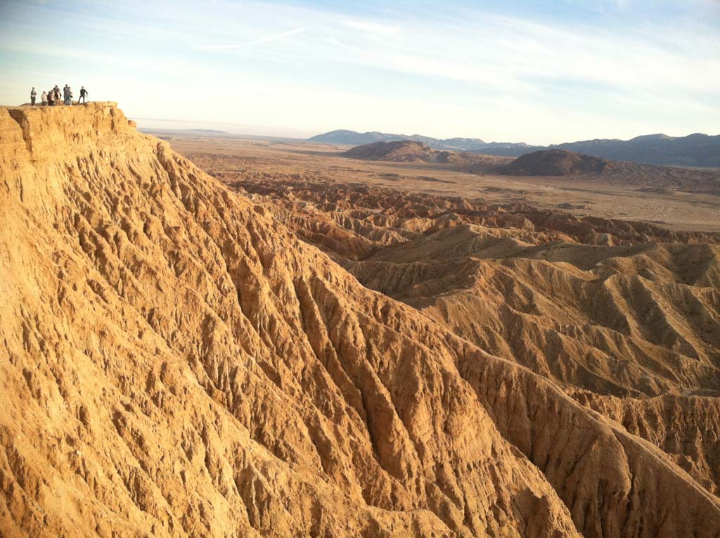"Font's Point, due east of Borrego Springs, is ""Anza Borrego's version of Gibraltar,"" says desert guide Joe Raffetto of California Overland Desert Excursions. It was named after Father Pedro Font, who served as chaplain and documentarian for an expedition across the desert in 1775 led by explorer Juan Bautista Anza.  Photo by Joe Raffetto"