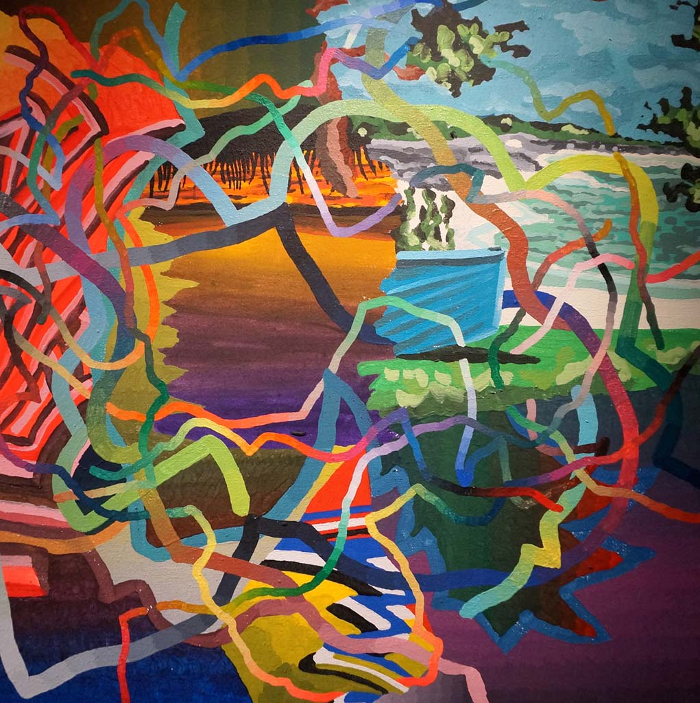 """Gary Lang's """"Untitled"""" acrylic on canvas abstract painting, from the private collection of Doug Simay, will travel to Italy with the California Dreaming exhibition before returning for exhibit in Oceanside Museum of Art and Riverside Art Museum. Courtesy photo"""