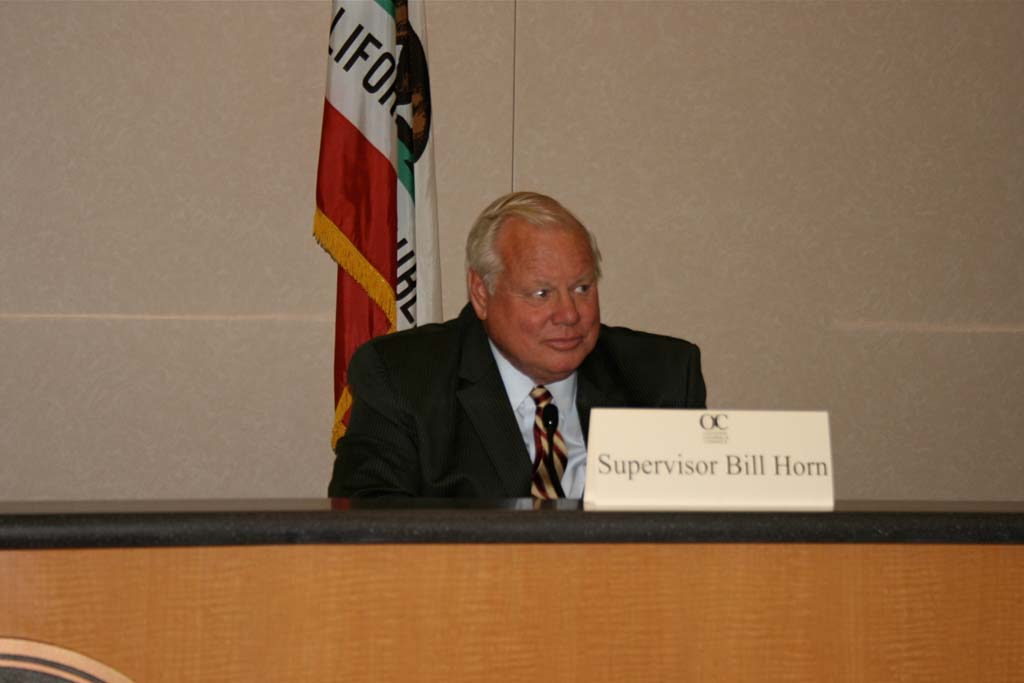 The latest vote count shows County Supervisor Bill Horn will keep his district No. 5 seat. The lead teetered between Horn and opponent Jim Wood as votes were tallied. Photo by Promise Yee