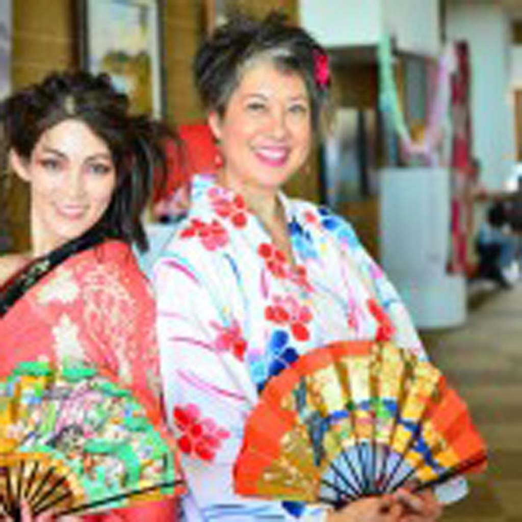 Dancer Miyuki Matsunaga and Encinitas Librarian and Patricia Williams will be part of the Japan Festival at the Encinitas Library Aug. 2. Photo by Michael Fish